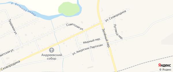 Лесной переулок на карте Сковородино с номерами домов