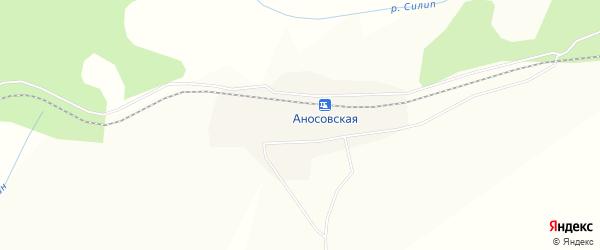 Карта Аносовского поселка в Амурской области с улицами и номерами домов
