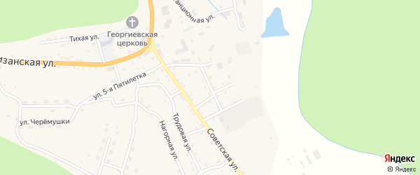 Механическая улица на карте села Соловьевск с номерами домов