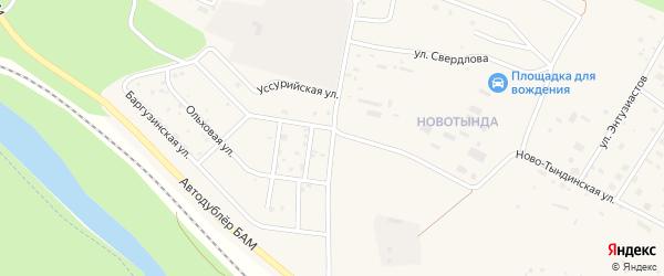 Улица Геологов на карте Тынды с номерами домов