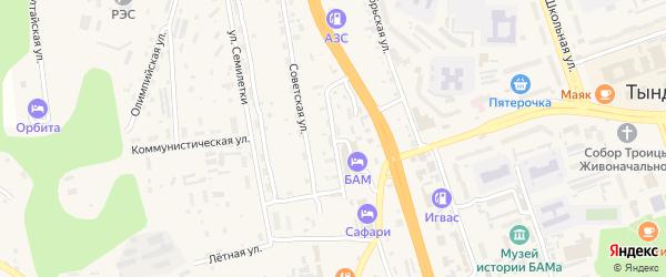 Комсомольская улица на карте Тынды с номерами домов