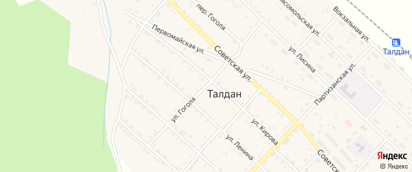 Улица Гоголя на карте села Талдана с номерами домов