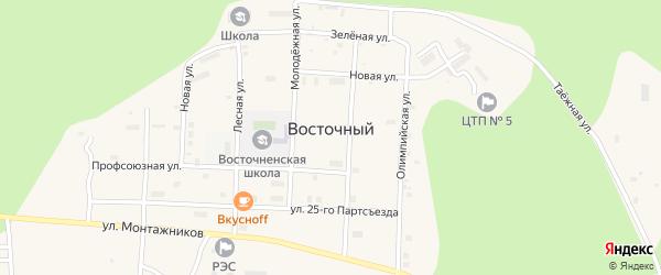 Улица 25 Партсъезда на карте Восточного поселка с номерами домов