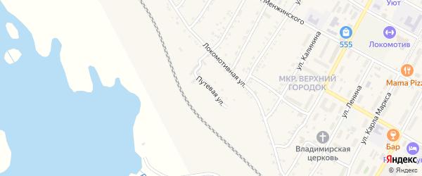 Путевая улица на карте поселка Магдагачей с номерами домов