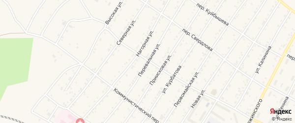 Перевальная улица на карте поселка Магдагачей с номерами домов