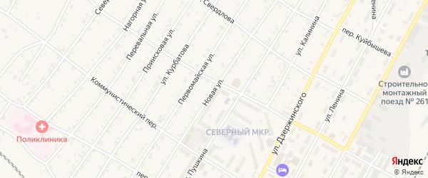 Новая улица на карте поселка Магдагачей с номерами домов