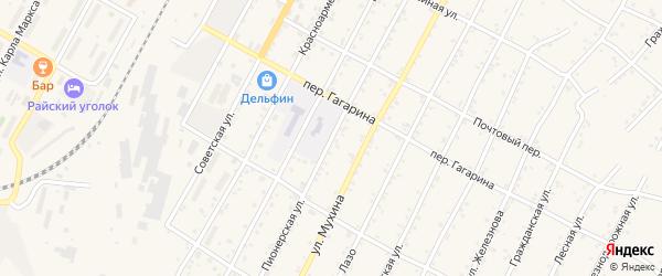 Пионерская улица на карте поселка Магдагачей с номерами домов