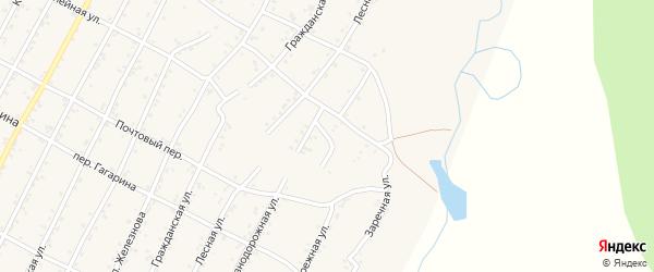Линейный переулок на карте поселка Магдагачей с номерами домов