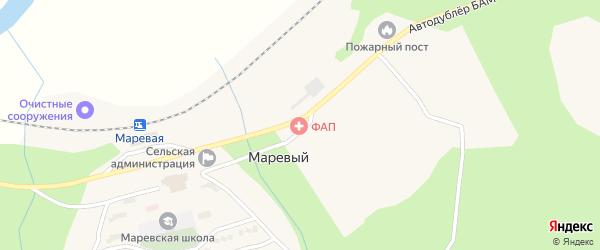 Лесная улица на карте Маревого поселка с номерами домов