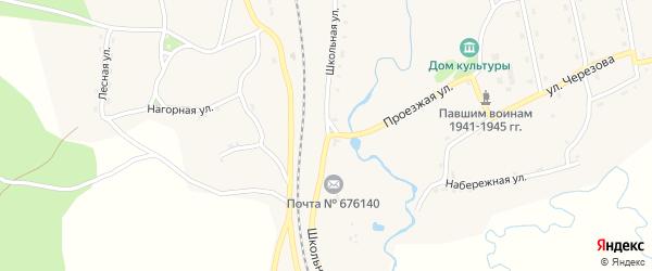 Школьная улица на карте села Дактуя с номерами домов