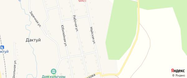 Майская улица на карте села Дактуя Амурской области с номерами домов