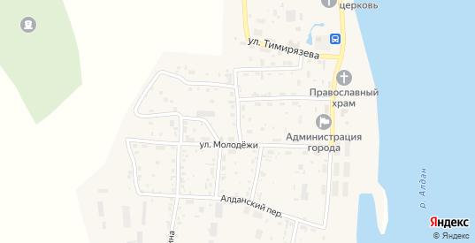 Гаражный переулок в Томмоте с номерами домов на карте. Спутник и схема онлайн