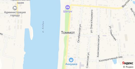 Улица 40 лет Победы в Томмоте с номерами домов на карте. Спутник и схема онлайн