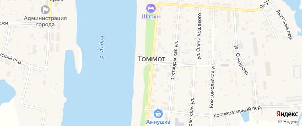 Пионерский переулок на карте Томмота с номерами домов
