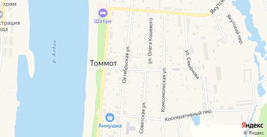 Клубная улица в Томмоте с номерами домов на карте. Спутник и схема онлайн