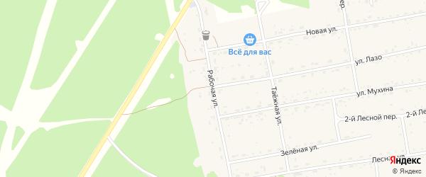 Рабочая улица на карте села Тыгды с номерами домов