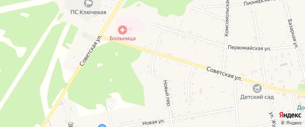 Советский переулок на карте села Тыгды Амурской области с номерами домов