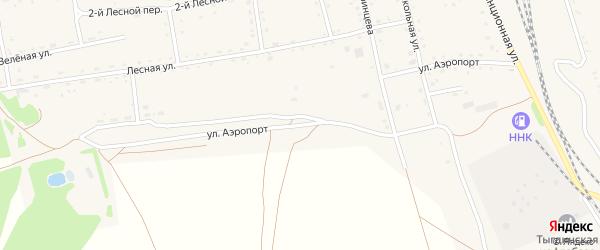 Улица Аэропорт на карте села Тыгды Амурской области с номерами домов