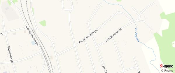 Октябрьская улица на карте села Тыгды с номерами домов