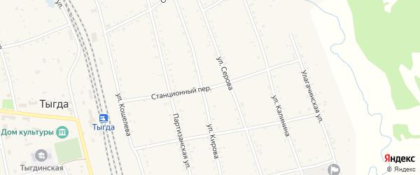 Станционный переулок на карте села Тыгды Амурской области с номерами домов