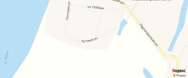 Почтовая улица на карте села Нововоскресеновки с номерами домов