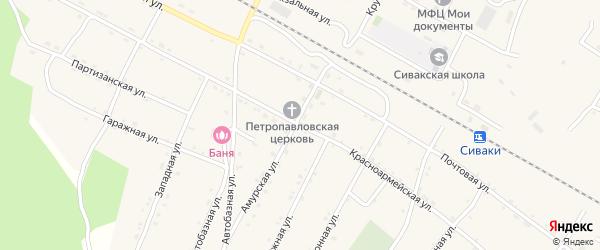Красноармейская улица на карте поселка Сиваки с номерами домов