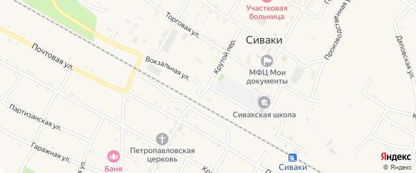 Вокзальная улица на карте поселка Сиваки Амурской области с номерами домов