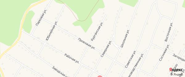 Курганская улица на карте поселка Сиваки с номерами домов