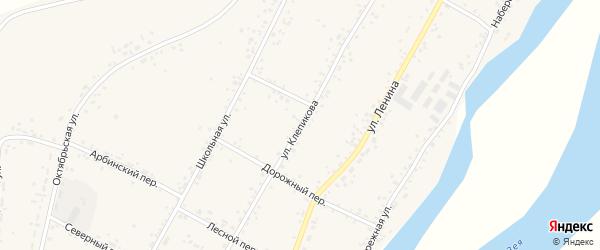 Улица Клепикова на карте села Овсянки с номерами домов