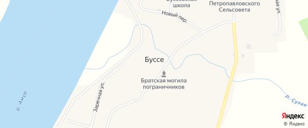 Новый переулок на карте села Буссе с номерами домов