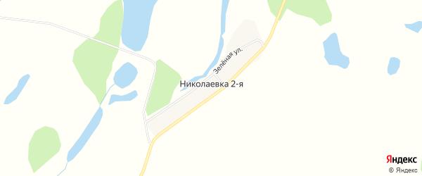 Карта села Николаевки-2 в Амурской области с улицами и номерами домов
