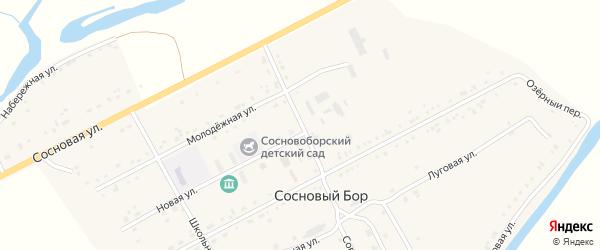 Советская улица на карте села Соснового Бора с номерами домов