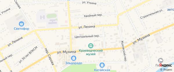 Центральный переулок на карте Зеи с номерами домов