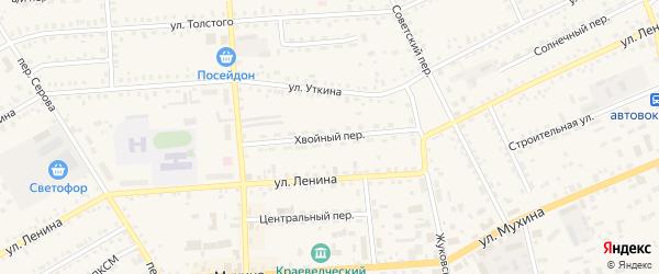 Хвойный переулок на карте Зеи с номерами домов