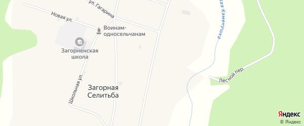 Советская улица на карте села Загорной Селитьбы с номерами домов