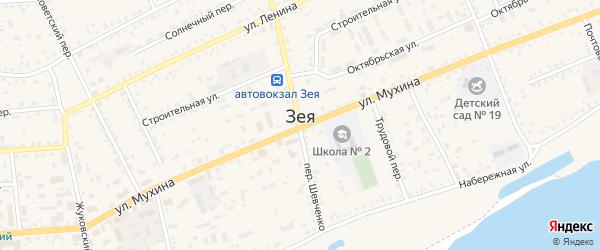 Загородная улица на карте Зеи с номерами домов