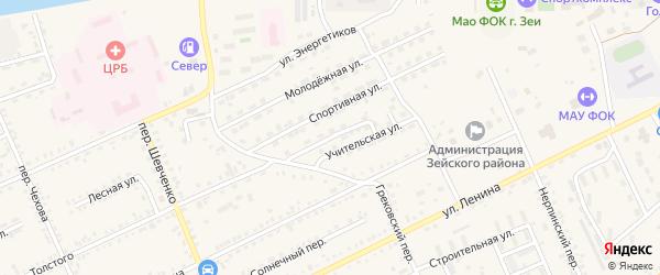 Улица Энтузиастов на карте Зеи с номерами домов