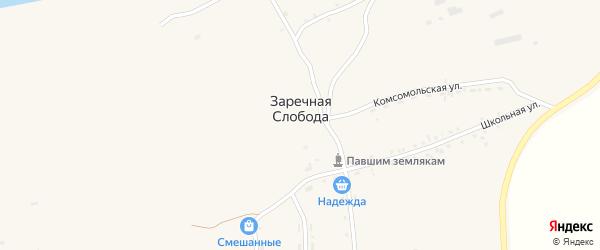 Садовая улица на карте села Заречной Слободы с номерами домов