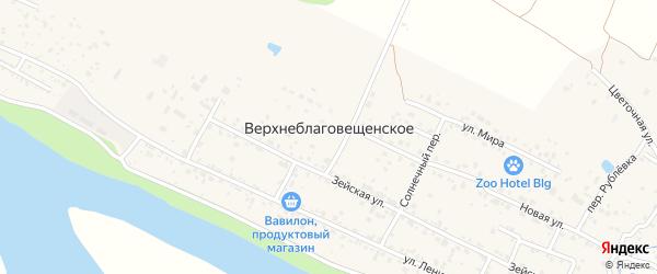 Лазурный переулок на карте Верхнеблаговещенского села с номерами домов