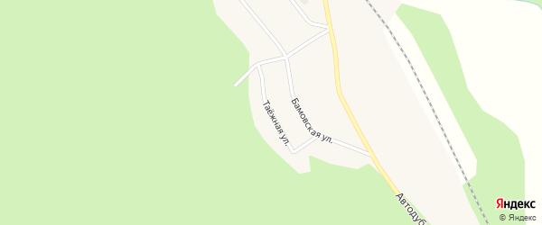 Таежная улица на карте поселка Тутаула Амурской области с номерами домов