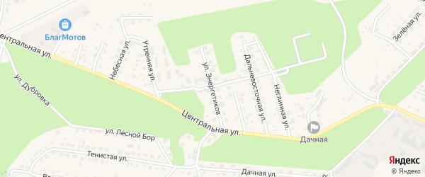 Улица Энергетиков на карте села Чигири Амурской области с номерами домов
