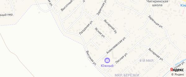 Звездная улица на карте села Чигири с номерами домов