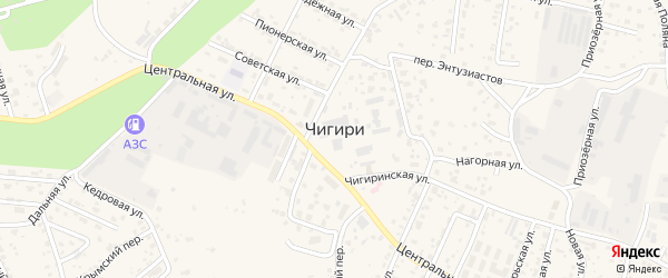 2 микрорайон Радужная улица на карте села Чигири Амурской области с номерами домов