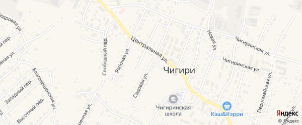 Садовая улица на карте села Чигири с номерами домов