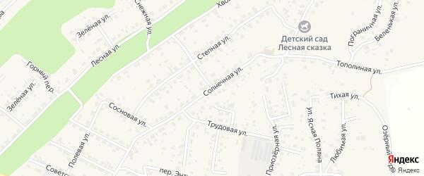 Улица Солнечная 2 очередь на карте села Чигири с номерами домов