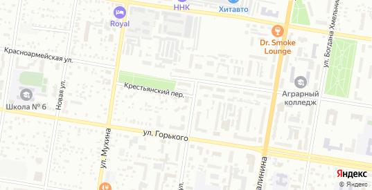 Крестьянский переулок в Благовещенске с номерами домов на карте. Спутник и схема онлайн