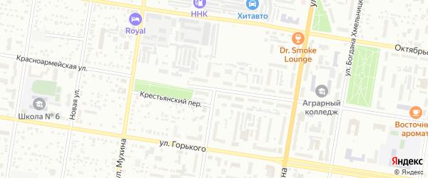 Комсомольская улица на карте Благовещенска с номерами домов
