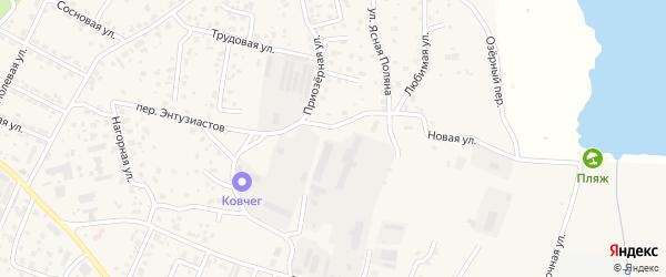 Приозерная улица на карте села Чигири Амурской области с номерами домов