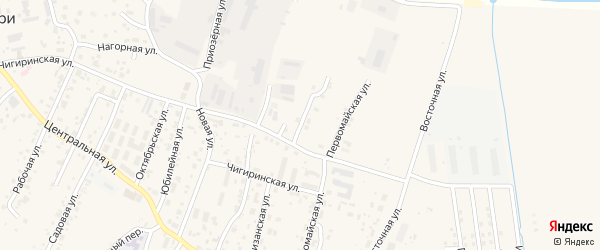 Малиновая улица на карте села Чигири Амурской области с номерами домов