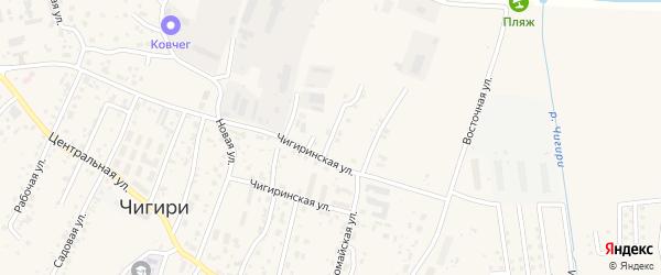 Малиновая улица на карте села Чигири с номерами домов